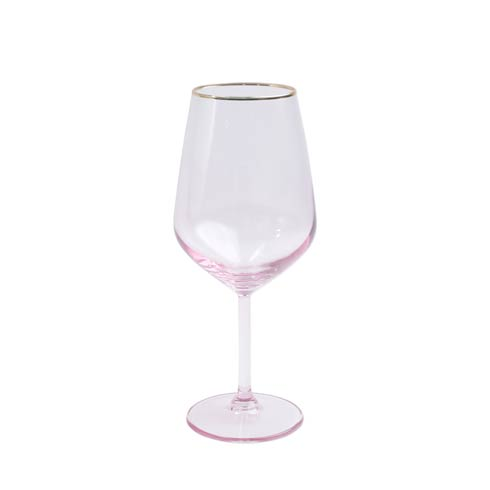 $15.00 Pink Wine Glass