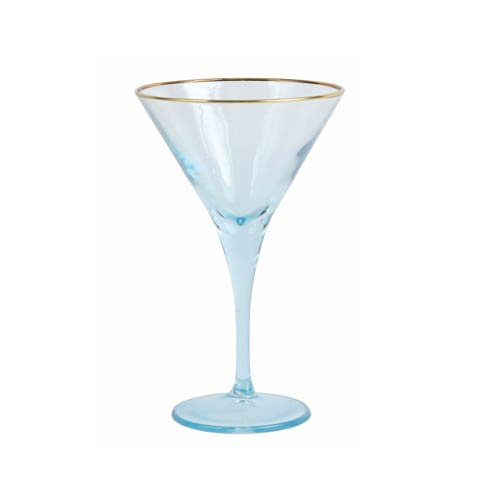 Viva by Vietri  Viva Rainbow Turquoise Martini Glass $15.00