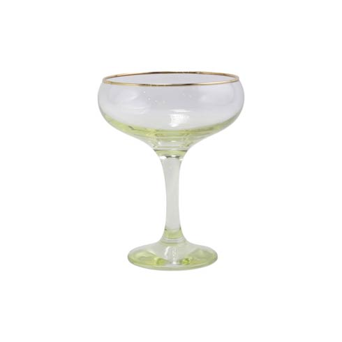 $15.00 Yellow Coupe Champagne Glass