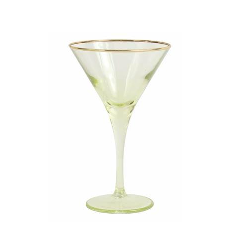 Viva by Vietri  Viva Rainbow Yellow Martini Glass $15.00