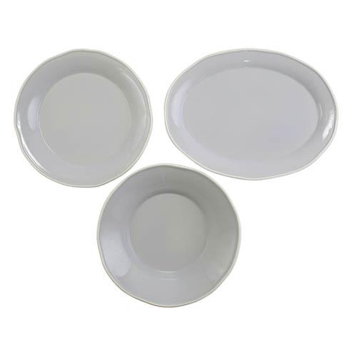 $197.00 Chroma Light Gray 3-Piece Serveware Set