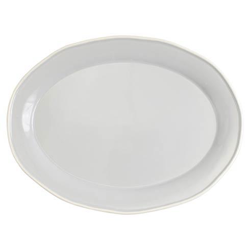 Viva by Vietri Viva Chroma Light Gray Oval Platter $69.00