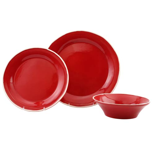$56.00 Red 3-Piece Place Setting