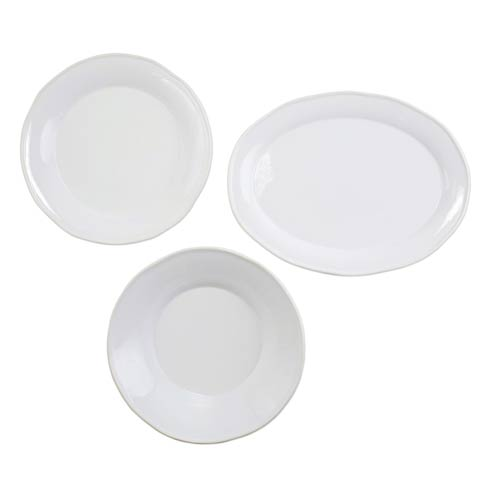 $197.00 Chroma White 3-Piece Serveware Set