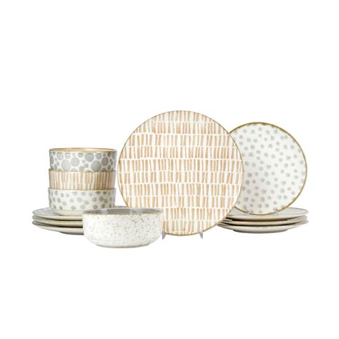 $224.00 Assorted 12-Piece Place Setting