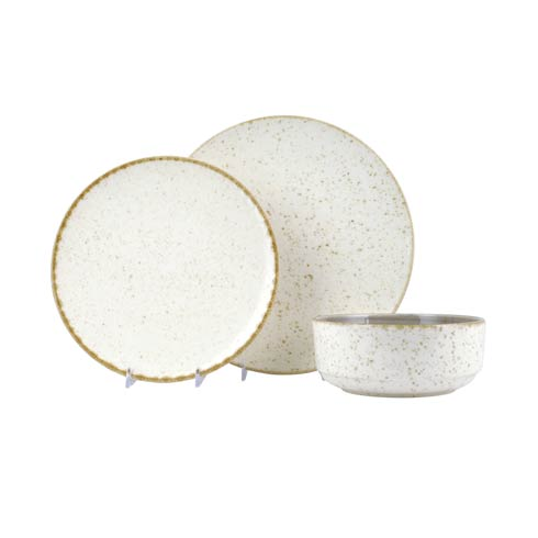 Eggshell 3-Piece Place Setting