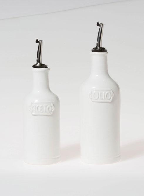 Vietri Viva Fresh White Oil & Vinegar Set $99.00