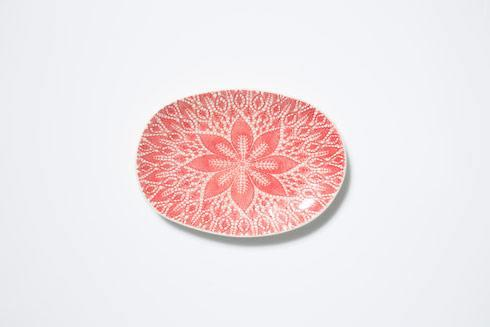Vietri Viva Lace Red Small Oval Platter $60.00