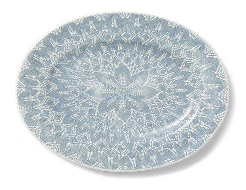 Vietri Viva Lace Gray Large Oval Platter $68.00