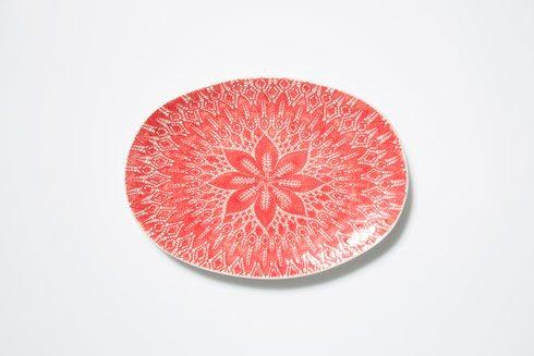 Vietri Viva Lace Red Large Oval Platter $68.00