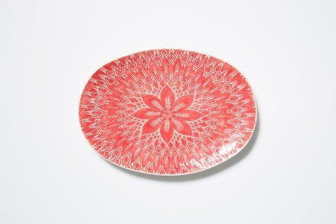 Viva by Vietri Viva Lace Red Large Oval Platter $68.00
