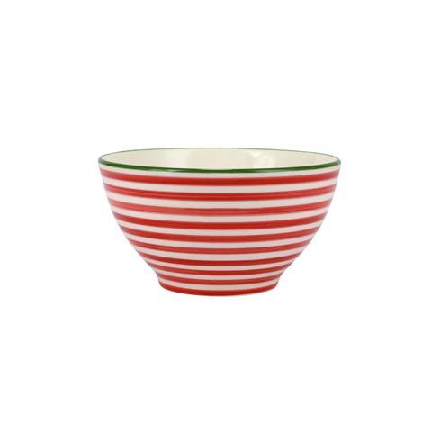 Viva by Vietri   Mistletoe Stripe Cereal Bowl $18.00