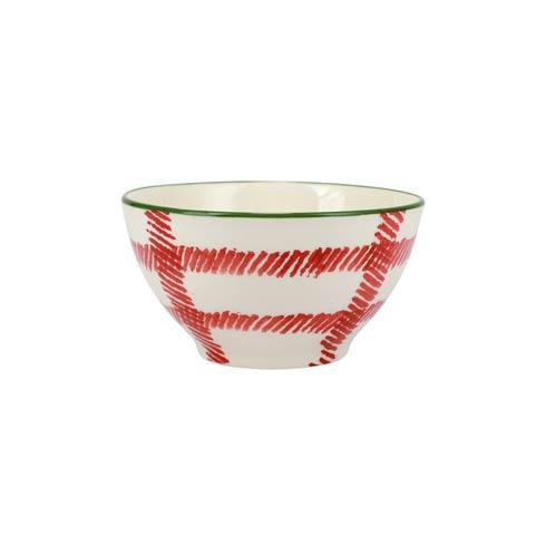 Viva by Vietri   Mistletoe Plaid Cereal Bowl $18.00