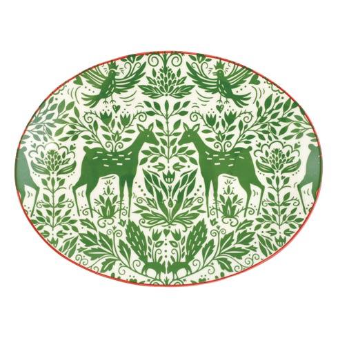 Viva by Vietri  Mistletoe Oval Platter $70.00