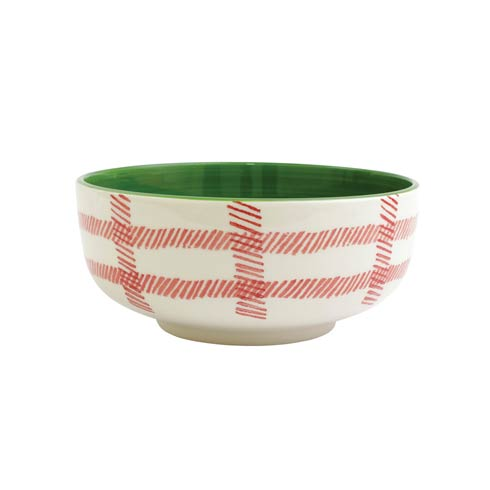 Viva by Vietri  Mistletoe Plaid Large Footed Serving Bowl $56.00