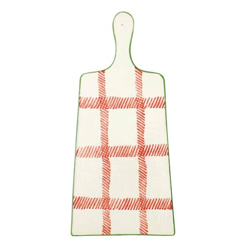 Viva by Vietri  Mistletoe Plaid Cheese Board $84.00