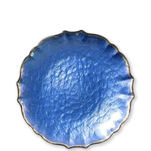 Viva by Vietri  Viva Pastel Glass Cobalt Salad Plate $24.00