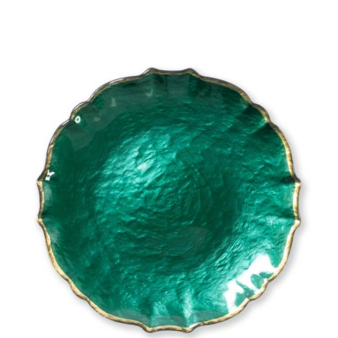 Viva by Vietri  Viva Pastel Glass Emerald Salad Plate $24.00