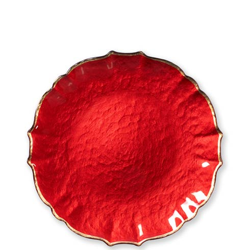 Viva by Vietri  Viva Pastel Glass Red Salad Plate $24.00