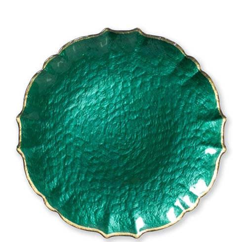 $36.00 Emerald Service Plate / Charger