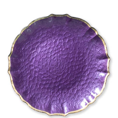 $36.00 Purple Service Plate / Charger