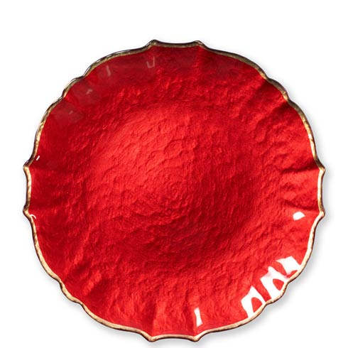 $37.00 Red Service Plate/Charger