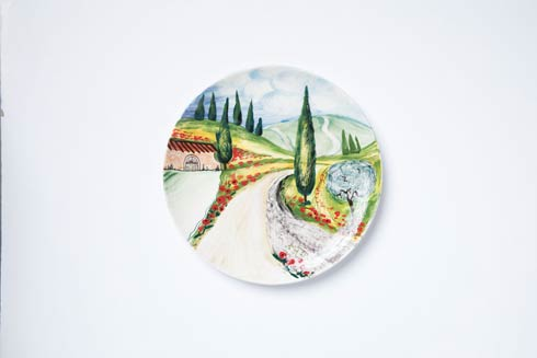$180.00 Vineyard Round Wall Plate