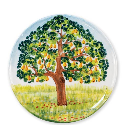 $156.00 Pear Tree Round Wall Plate