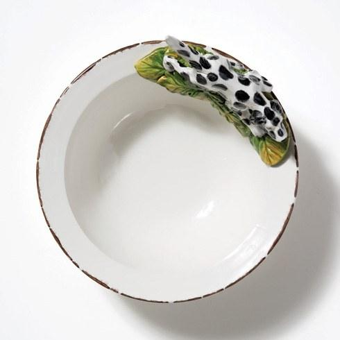 Serving Bowl with Hunting Dog