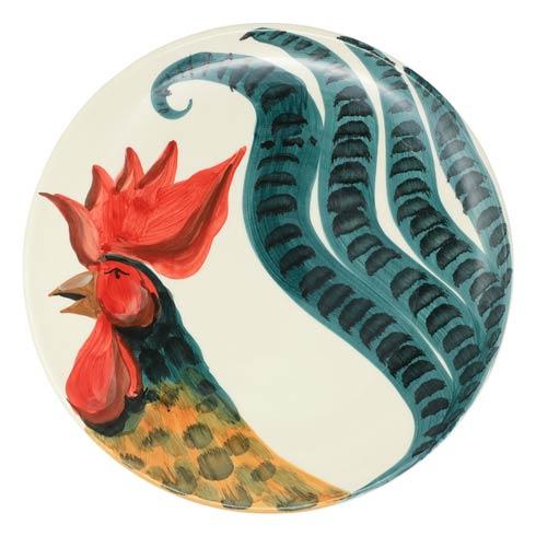 VIETRI  Wildlife Rooster Round Platter $145.00