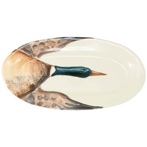 VIETRI  Wildlife Mallard Narrow Oval Platter $135.00