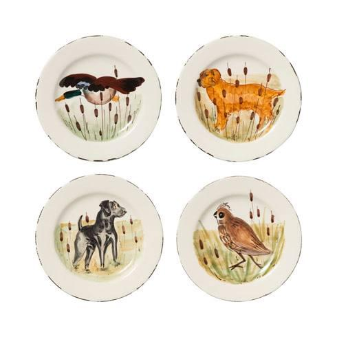 $208.00 Wildlife Assorted Salad Plates - Set of 4