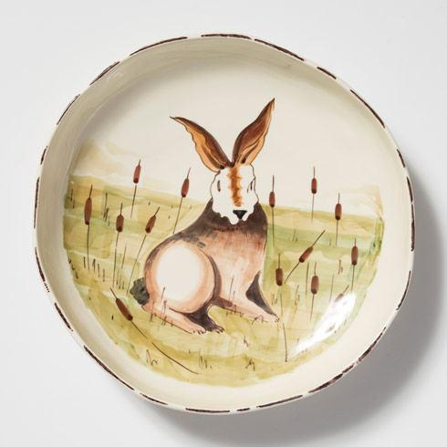 $158.00 Wildlife Hare Shallow Serving Bowl