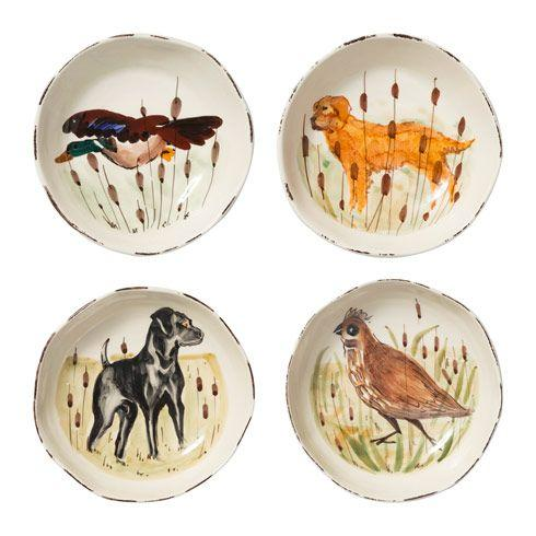 $208.00 Wildlife Assorted Pasta Bowls - Set of 4