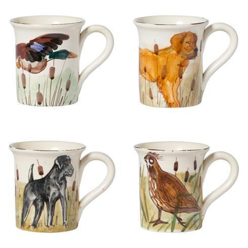 $184.00 Wildlife Assorted Mugs - Set of 4