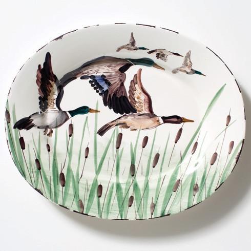 Vietri  Wildlife Mallard Large Oval Platter $208.00