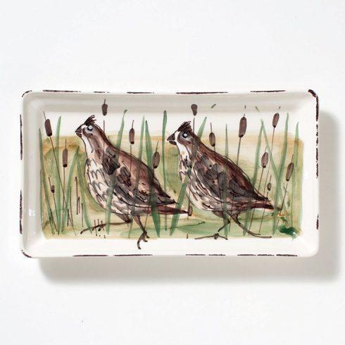 Vietri  Wildlife Quail Rectangular Platter $98.00