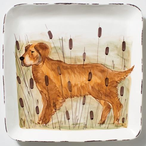 Vietri  Wildlife Hunting Dog Large Square Platter $182.00