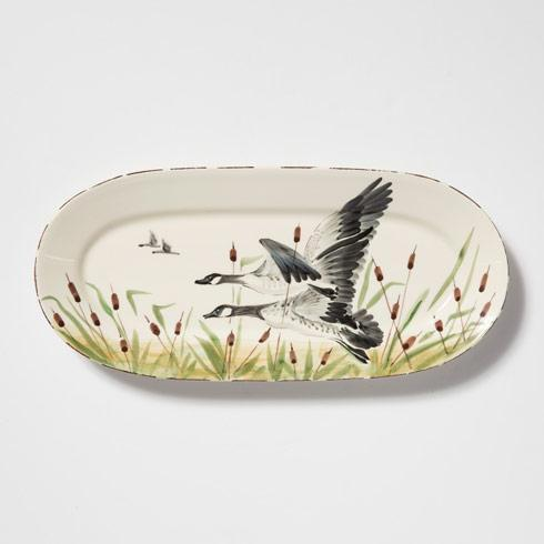 Vietri  Wildlife Geese Small Oval Platter $118.00
