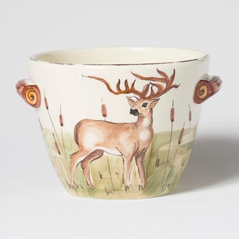 Vietri  Wildlife Deer Handled Deep Serving Bowl $138.00