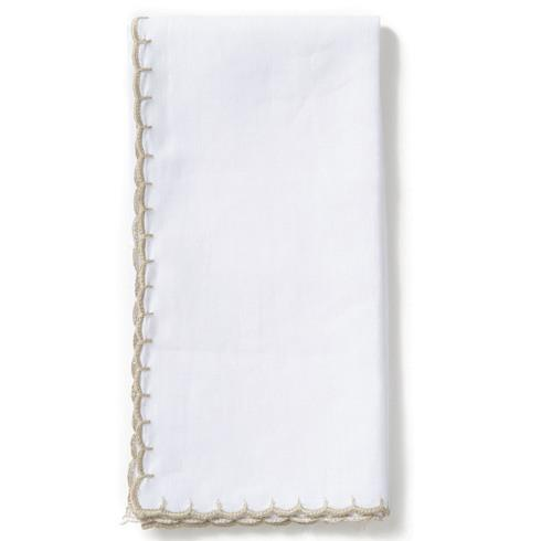 Vietri  Whipstitch Ivory with Natural Napkin $22.00