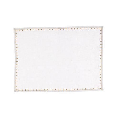 VIETRI  Whipstitch White w/ Gold Placemat $22.00