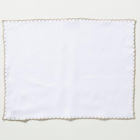 Vietri  Whipstitch Ivory with Natural Placemat $20.00