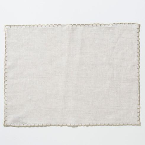 Vietri  Whipstitch Oatmeal with Natural Placemat $20.00