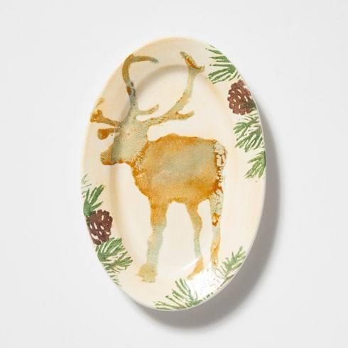 Vietri  Foresta Moose Small Oval Tray $54.00