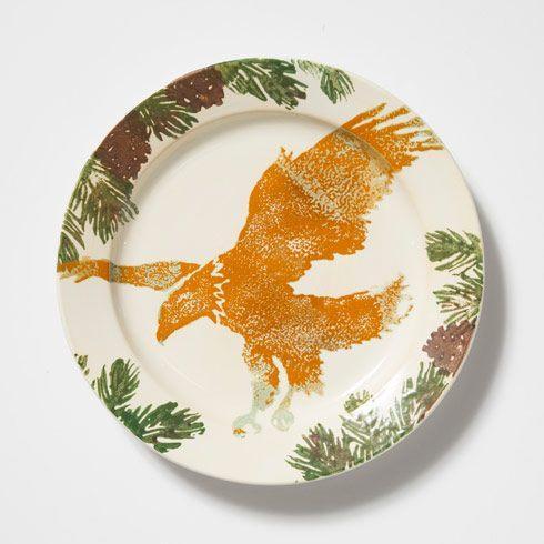 Eagle Round Rimmed Platter
