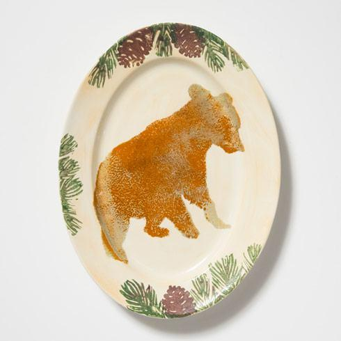 Bear Medium Oval Platter
