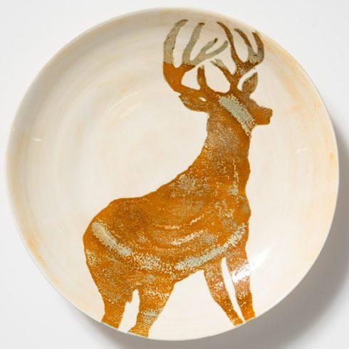 Vietri  Foresta Deer Large Bowl $140.00