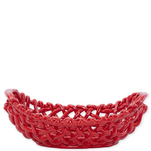 $348.00 Woven Baskets Red Large Basket