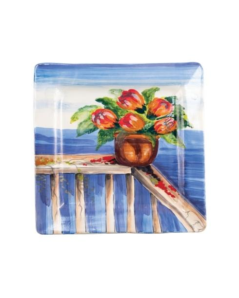$198.00 Seaside Bouquet Square Wall Plate